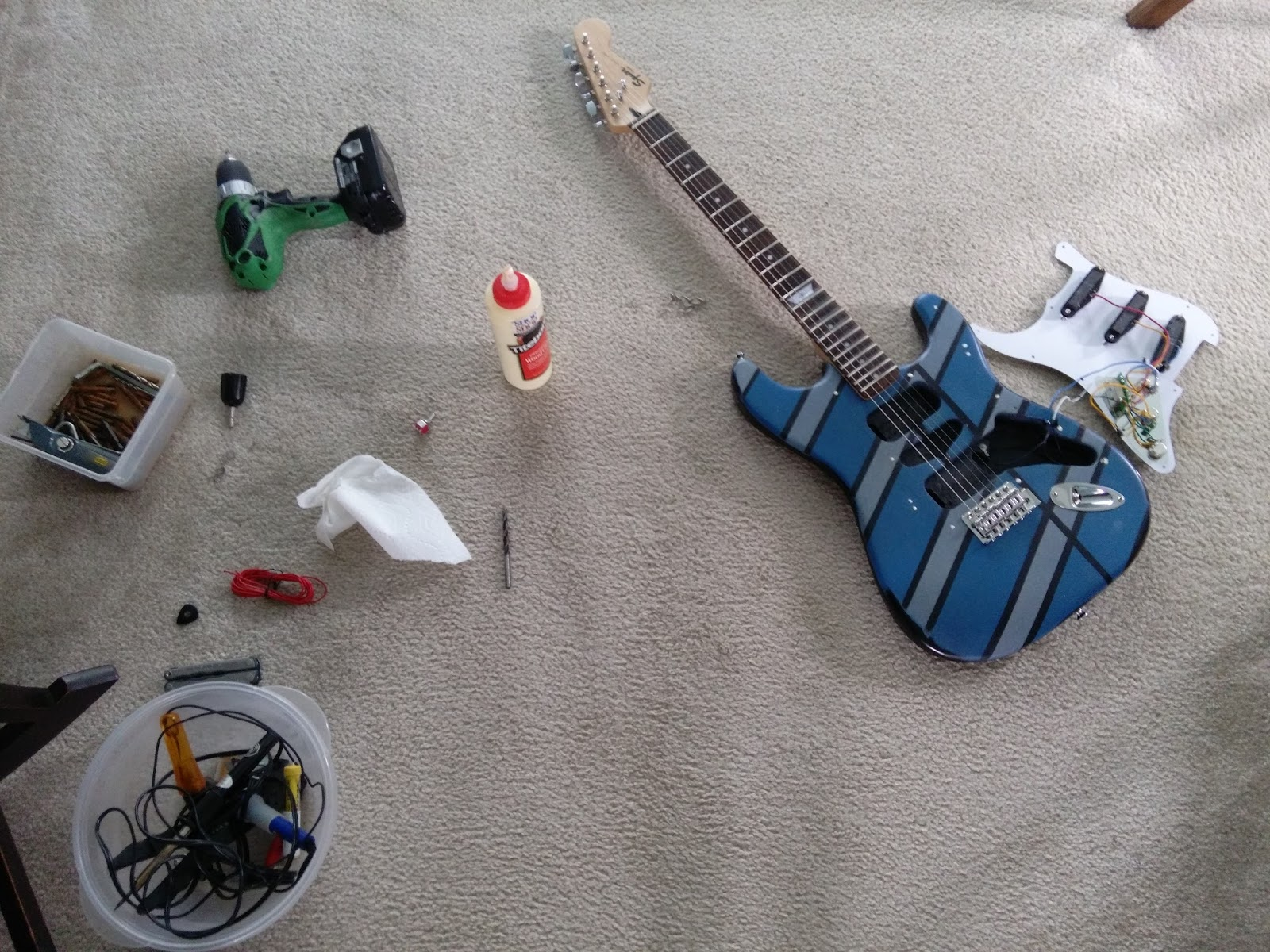 Mattwins Adventures Of A Squier Strat Episode Ix Evh Frankenstein Humbucker Wiring Diagram Finally Beginning To Exhaust Possibilities For Moderate External Upgrades Today I Took The Adventure Inside Guitar Introducing Two Simple
