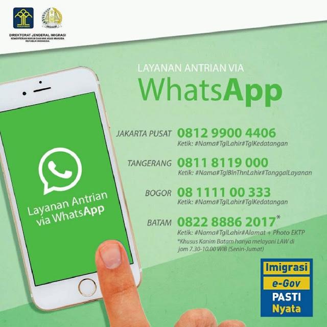 Cara Membuat Paspor Lewat WhatsApp, Antrian Paspor Online 2020