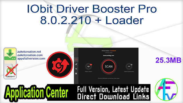 IObit Driver Booster Pro 8.0.2.210 + Loader