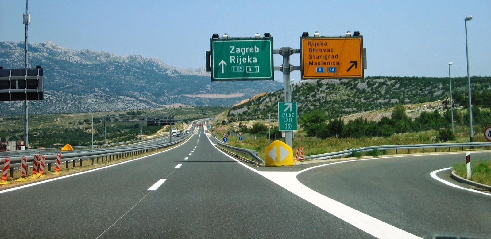 Oznakowanie dróg w Chorwacji
