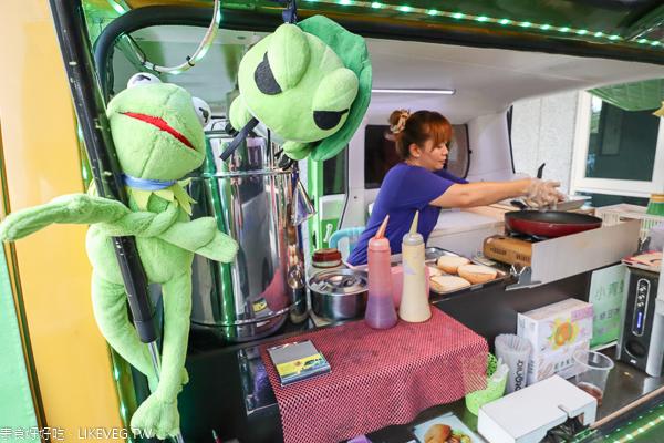 小青蛙美式素漢堡 平價素食漢堡巡迴胖卡,每天出現在不同地點