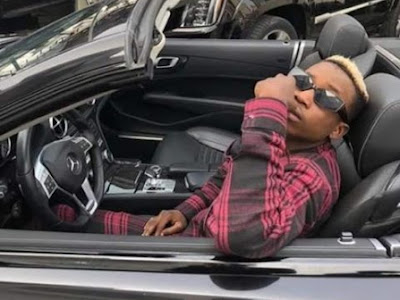 Lil Frosh Poses With A New Mercedes Benz Car