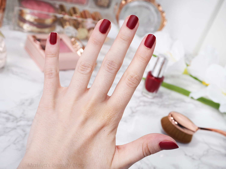 BeYu Matt Color Nail Lacquer 145 Smokey Red - Mateja\'s Beauty Blog