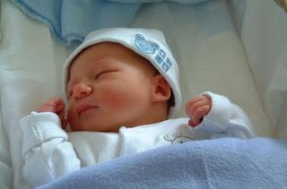 minha bebé linda de azul