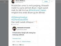 Netizen Balas Ferdinand: Khawatir Malah Lu yang ke Akhirat Duluan