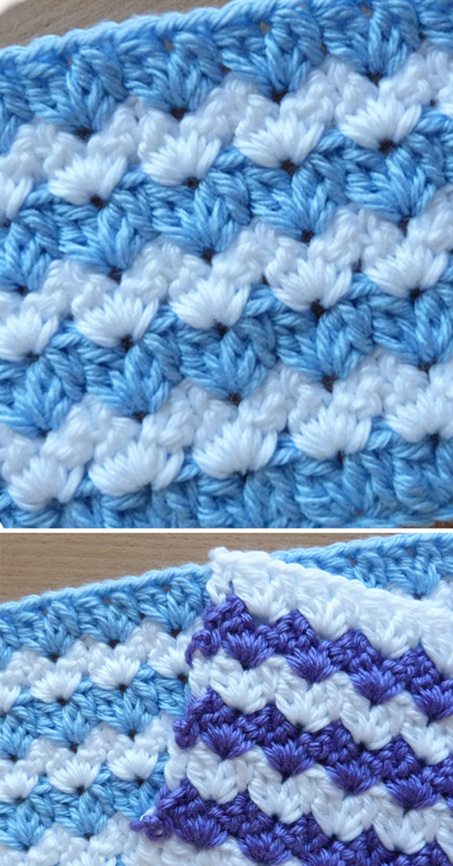 Crochet Cluster V-Stitch - Tutorial