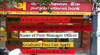 Punjab National Bank Recruitment 2017– 45 Manager (Security)