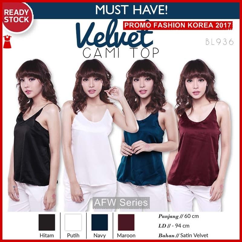 BAMFGW135 Velvet Top Tanktop Wanita PROMO BMG