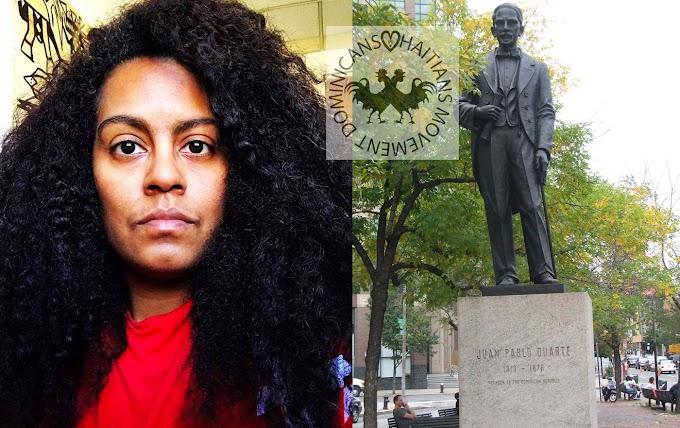 Denuncian movimiento pro haitiano dirigido por dominicana promueve tumbar estatua de Duarte en Nueva York