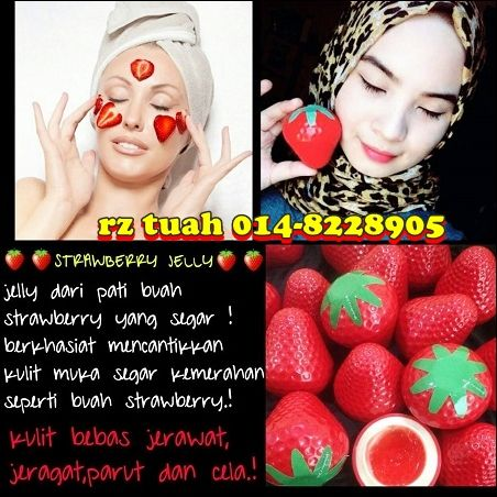 strawberry jelly face krim malam