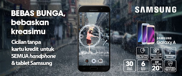 Promo Kredit HP Samsung Bunga 0 Persen
