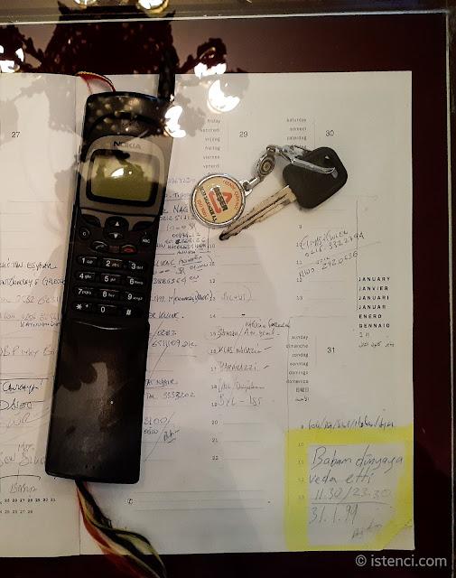 Barış Manço 81300 Müzesi: Barış Manço'nun arabasının anahtarı, telefonu ve ajandası...