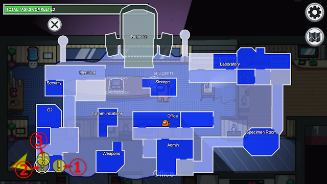 Boiler Room(ボイラー室)のタスク一覧マップ説明画像