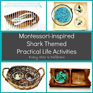 Montessori Practical Life Shark Activities