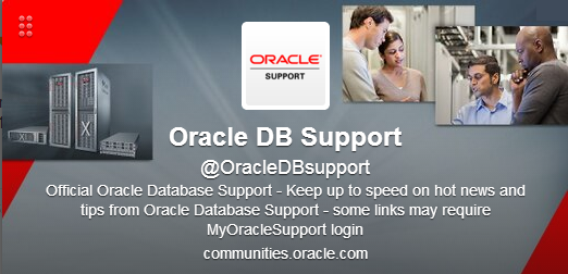 Sigue a @OracleDBsupport