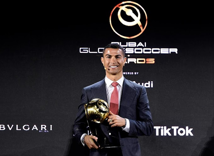 Cristiano Ronaldo beats Lionel Messi and Mohamed Salah to win player of century award