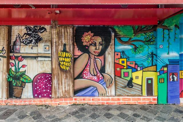 Um belo grafite na Jaime Reis
