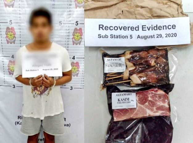 man arrested for allegedly stealing P270 worth of meat