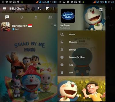 BBM MOD Doraemon versi terbaru 3.0.1.25 APK dan 3D Gratis