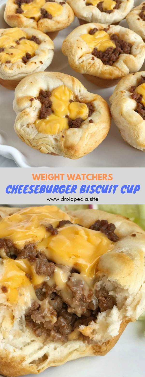 Weight Watchers Cheeseburger Biscuit Cup #breakfast #weightwatchers #cheeseburger #biscuit #cup