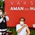 Disuntik Vaksin Covid-19, Jokowi: Enggak Terasa