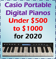 Casio portable digital pianos under $1000 - CDP-S150, CDP-S350 - review