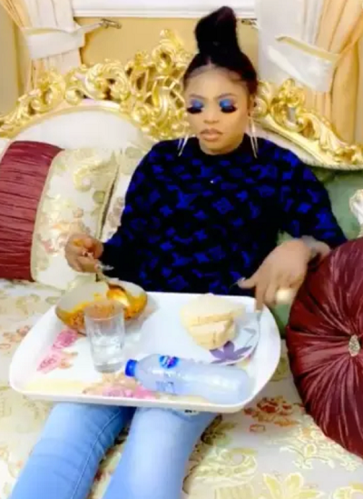 Bobrisky carpets man who strolled into his home to eat without giving him a dime
