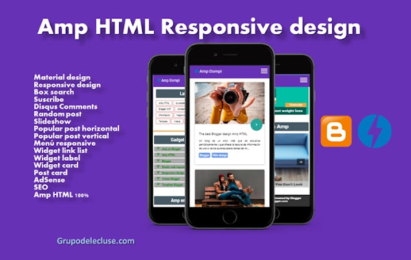 Amp HTML Blogger Template - Free Template AMP Dompi