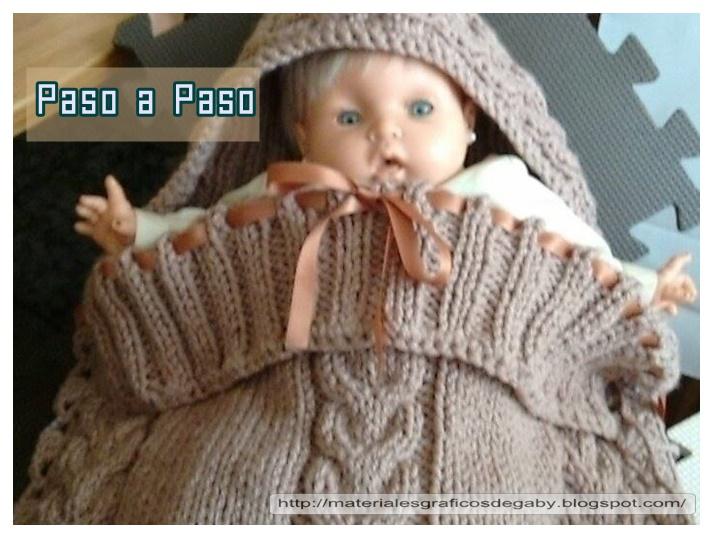 Materiales gráficos Gaby: Capullo cocom o porta bebé paso a paso