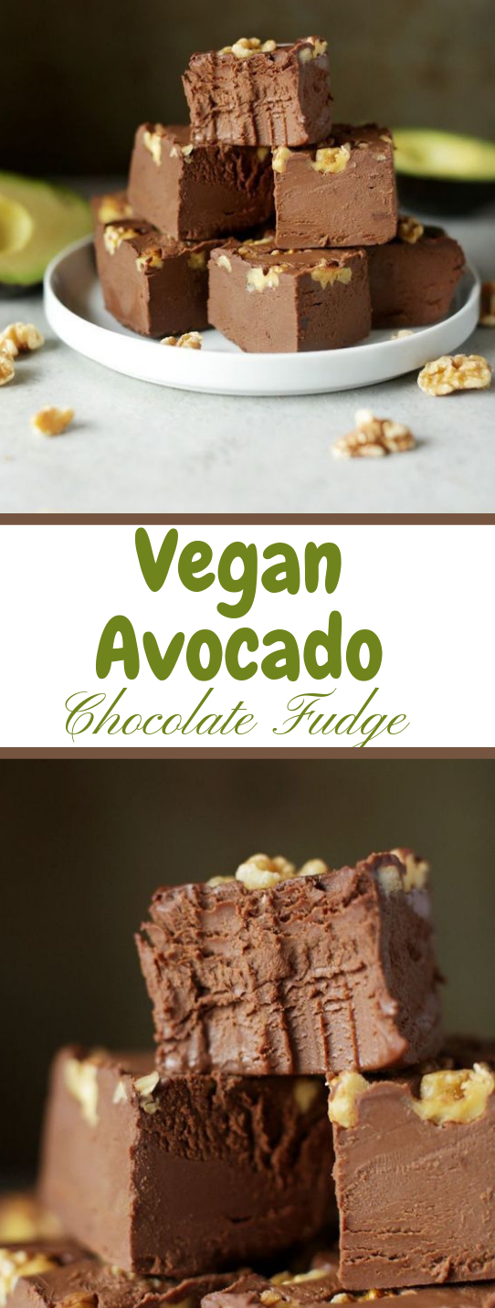 VEGAN AVOCADO FUDGE #cake #avocado