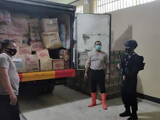 4,5 Ton Bantuan Polda Sumut di distribusikan untuk Kalimantan Selatan