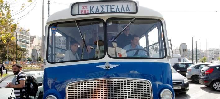 Μια βόλτα στο παρελθόν: Καστέλλα-Πασαλιμάνι με παλιά λεωφορεία και τρόλεϊ