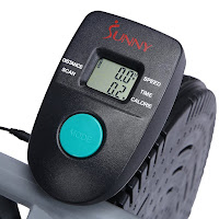 Sunny Health & Fitness SF-B2618 air resistance hybrid fan bike's monitor