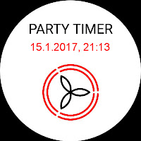 Mockup: Android Wear für ComfoControl - Party Timer aktiv