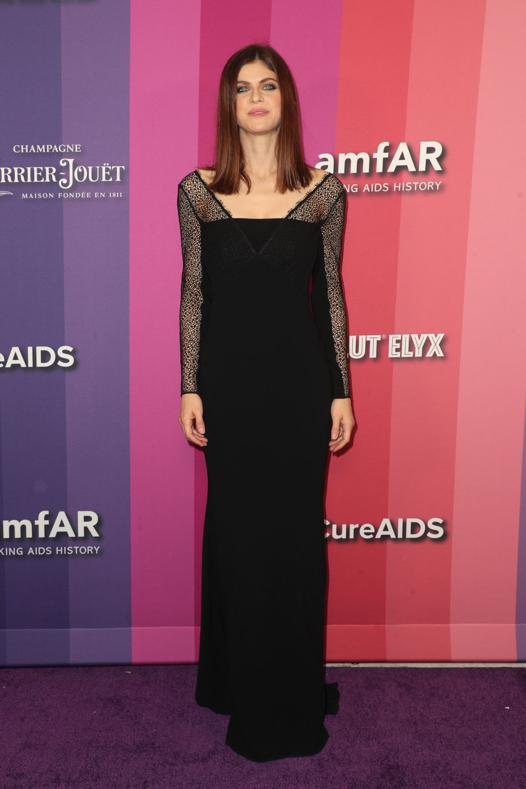 Alexandra Daddario – 2019 amfAR Gala at Milk Studios in Los Angeles