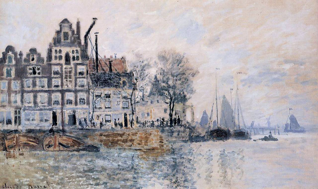 View of Amsterdam (1874) by Claude Monet - UK culture blog