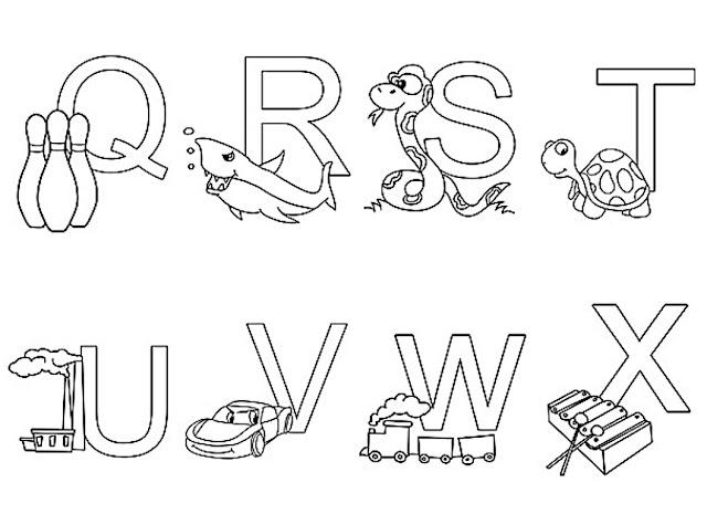 تلوين الحروف الفرنسية للاطفال