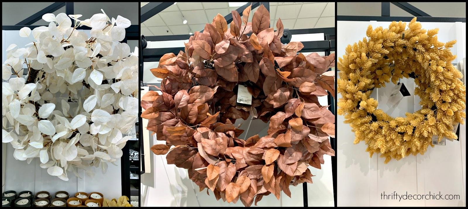 New fall wreaths Target