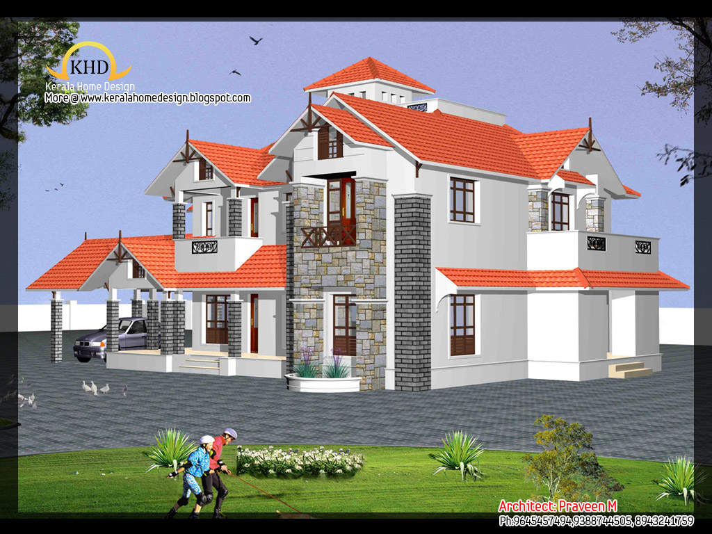 House Elevation 3750 Sq Ft Kerala Home Design And