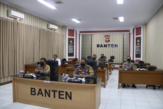 Siaga Bencana, Polda Banten Hadiri Rakornas BNPB Melalui Virtual