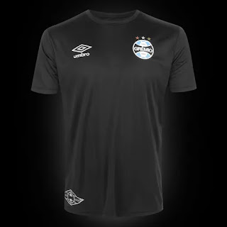 Camisa Grêmio Black Edição Limitada 20/21 s/n° Torcedor Umbro Masculina - Preto