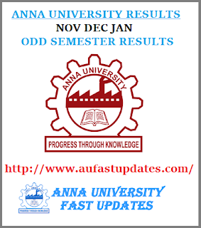 Anna University Nov Dec 2016 Jan 2017 Results UG PG 1st 3rd 5th 7th Semester Exam