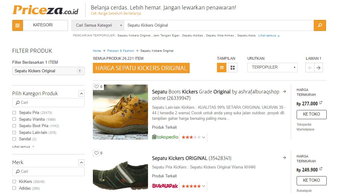 Belanja Online Lebih Mudah dan Murah di Priceza
