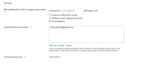 Notifikasi Komentar Blogger Hilang