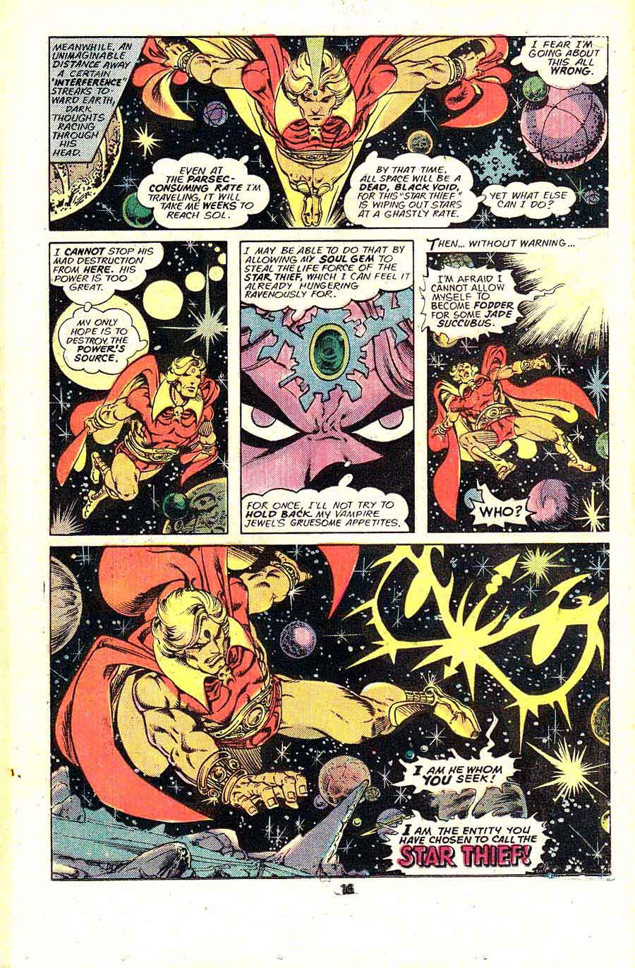 Warlock v1 #13 marvel 1970s bronze age comic book page art by Jim Starlin