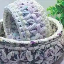 Cesto Punto Estrella a Crochet