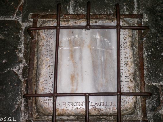 Huellas de Jesús en la Vía Appia Antica. Roma