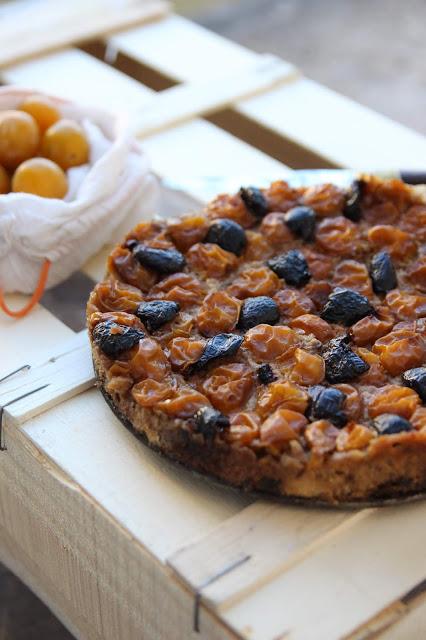 Fougasse façon pudding mirabelles olives
