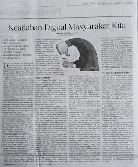 Opini Kompas: Keadaban Digital Masyarakat Kita - Ahmad Najib Burhani