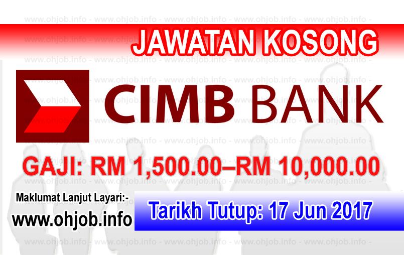 Jawatan Kerja Kosong CIMB Bank logo www.ohjob.info jun 2017